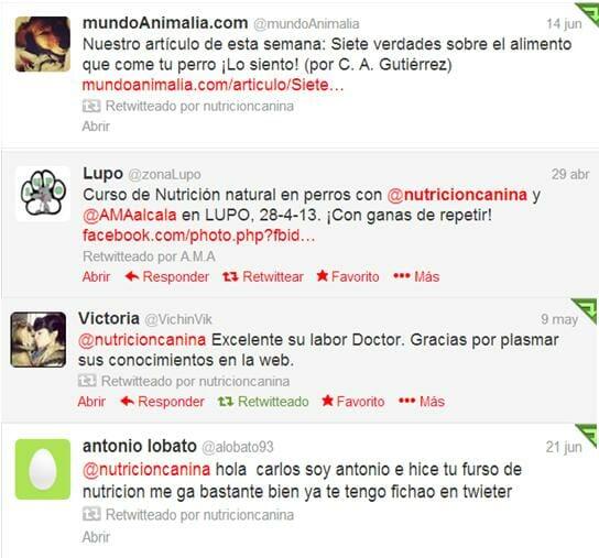 Testimoniales Twitter